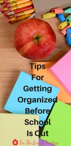 Getting organized before school is out is a must do. Read these tips about getting organized at the end of the school year at For The Love of Teachers