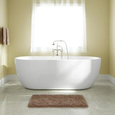 "55"" Imler Freestanding Acrylic Tub Acrylic tub, Bathroom"