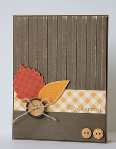 Stampin' Up! Simple - Thanksgiving card (but thinking it could work for Founders' Day also...)