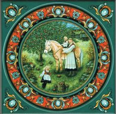 New Suzanne Toftey Norwegian Bedtime Prayer Square Tile