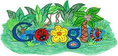 Makenzie Melton of El Dorado Springs, Missouri Google Doodle Contest, Doodle 4 Google, Google Doodles, Images Google, Art Google, Bing Images, Missouri, Rainforest Habitat, 85th Birthday