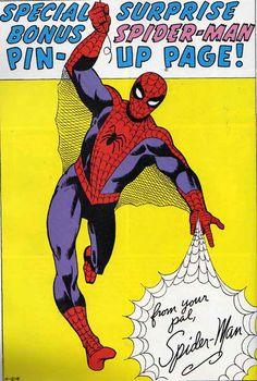 Amazing Spider-Man pin-up Amazing Spider Man 3, Spectacular Spider Man, Spidr Man, Marvel Masterworks, Jack Kirby Art, Steve Ditko, Marvel Comics Art, Classic Comics, Comic Page