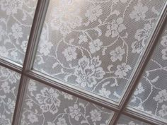 In less than an hour, Annabel created an elegant way to bring more privacy to her personal space. And if you ever want to remove the lace, simply wash the windows with warm water.