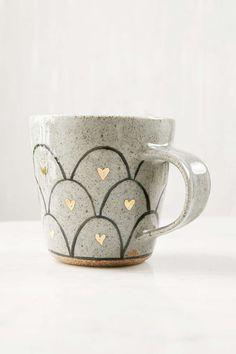 Pickle Pottery Heart Loop Mug