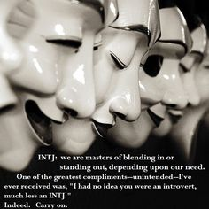 INTJ but partly could be for this INFJ as well.  Don't care much for standing out as in all eyes on me but do like to be & keep things unique.