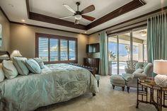 Soothing Master Suite near Pool in Wai'ula'ula Villa 327 at Mauna Kea Resort. Big Island, Hawaii. SouthKohala.com