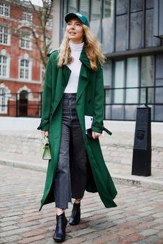 Long green coat