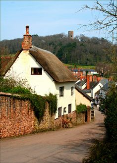 My beautiful wedding town of Dunster.  I cannot even begin to tell you how peaceful and perfect it is there.  This is looking towards Conygar Tower.