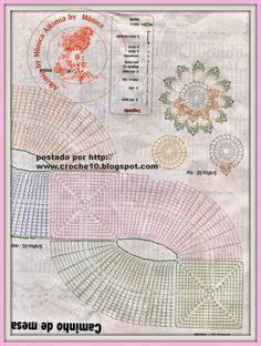 Free Crochet Pattern for Knitting For Crocheters Crochet Square Patterns, Crochet Diagram, Doily Patterns, Filet Crochet, Crochet Doilies, Crochet Flowers, Diy Crafts Crochet, Crochet Projects, Crochet Carpet