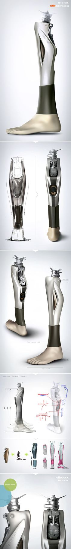 Ottobock Prosthetic Cover / Designed by KISKA on Industrial Design Served