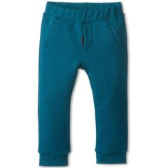 Fendi Kids Turq Fleece Jogging Pant (Infant/Toddler) (685 BRL) ❤ liked on Polyvore featuring pants and teal