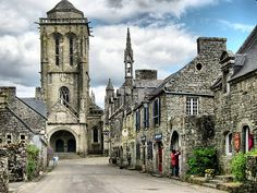 Village Square, Locronan, France  photo by oly
