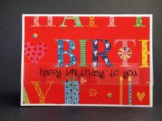 Happy Birthday, Birthday Card, red, flowers