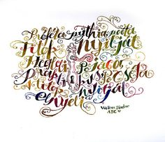 Calligraphy by Boglárka Nádi