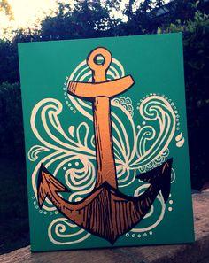 Canvas Art: Anchor DIY
