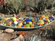 "From a Dale Chihuly exhibit called ""The Nature of Glass"".  Desert Botanical Garden in Phoenix, AZ"