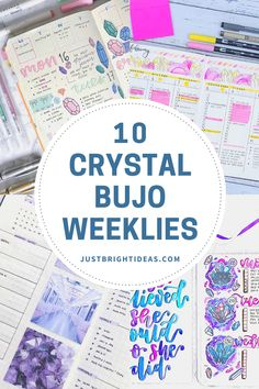 Check out these gorgeous crystal bullet journal weekly spread ideas - and find out more about the power of crystals Weekly Spread, Bujo, Healthy Living, Bullet Journal, Crystals, Healthy Life, Crystal, Crystals Minerals