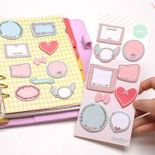 Dokibook Mini Cute Kawaii Sticky Notes Creative Flower DIY Memo Pad Planner Notebook Accessories Office School Supplies(China (Mainland))