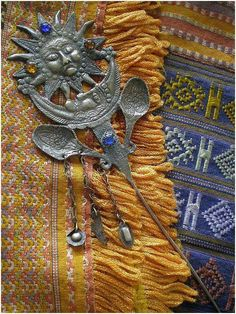 The traditional tupo (also known as tupu) was a large pin used by women of Peru, Bolivia, and Ecuador to Ethnic Jewelry, Jewellery, Sacred Meaning, Black And White Colour, Hat Pins, Sun Moon, Bolivia, Ecuador, Mythology