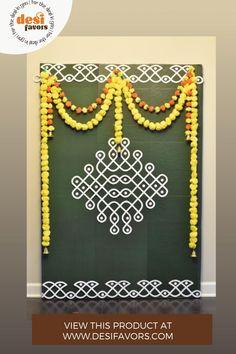 Housewarming Decorations, Diy Diwali Decorations, Backdrop Decorations, Festival Decorations, Flower Decorations, Backdrops, Ceremony Decorations, Rangoli Designs Flower, Flower Rangoli