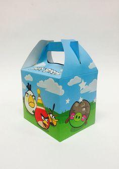 Partido de aves enojado tratar Box Caja de por LovelyPartyStudio