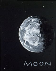 Moon, by Erik Olson Space Painting, Galaxy Painting, Inspiration Art, Art Inspo, To Infinity And Beyond, Vincent Van Gogh, Stars And Moon, Wallpaper, Cute Art