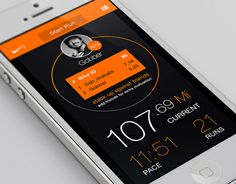 Nike Plus iOS app redesign by Jed Jacobson, via Behance