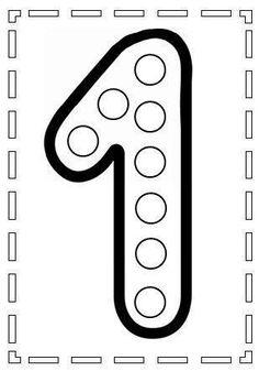 do a dot number 1 Preschool Learning Activities, Preschool Printables, Preschool Worksheets, Toddler Activities, Preschool Activities, Kids Learning, Numbers Preschool, Learning Numbers, Do A Dot