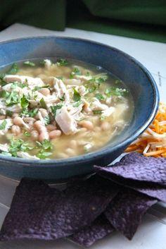 Easy Chicken Chile Verde & White Bean Soup