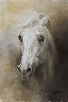 """""""Cabeça de cavalo"""" - Pintura a óleo sobre tela"""