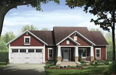 Craftsman House Plan with 1876 Square Feet and 3 Bedrooms from Dream Home Source | House Plan Code DHSW076290