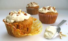 Carrot Cupcakes with Maple Cream Cheese Frosting.....making these right now