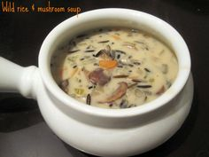 What's for Meat?: Wild rice & mushroom soup
