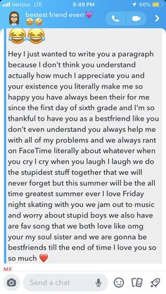 Ideas for bff birthday captions funny Best Friend Texts, Happy Birthday Best Friend Quotes, Best Friend Messages, Male Best Friend Quotes, Dear Best Friend Letters, To My Best Friend, Best Friend Birthday Message, Message For Best Friend, Best Friend Captions