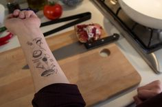 Here's One Way To Keep Track Of A Recipe: Tattoo It To Your Arm