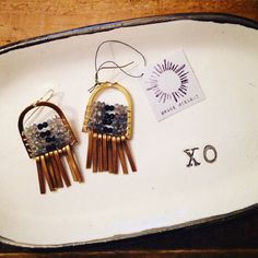Earrings with xo jewelry dish.  Love!  HERE. & NOW xo, Amy & El