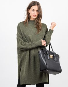 Designer Clothes, Shoes & Bags for Women Cozy Sweaters, Sweaters For Women, Oversized Sweaters, Wide-brim Hat, Green Sweater, Sweater Weather, Long Sleeve Sweater, Fashion Outfits, My Style