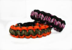 His and Hers Hunters Bracelets  Paracord by HalesBeeHandmade, $10.00