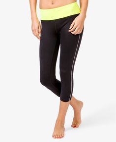 Contrast Stripe Athletic Capris #sportresort - http://AmericasMall.com/categories/activewear.html