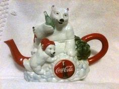 POLAR BEAR COCA-COLA TEAPOT-GERMAN-1997-M.CORNELL-HIGHLY RARE-LTD.ED.#71 of 5000 | the Teapots Collectionary