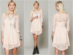 Z Fashion Trend: WHITE SHORT LACE DRESS FOR TEENAGERS