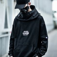 An oversized long cotton hoodie, designed for style and engineered for warmth. Features exclusive sleeves, neck cover and back patched design that is guaranteed to turn heads. Hoodie Sweatshirts, Fleece Hoodie, Hoody, Streetwear, Urban Fashion, Mens Fashion, Fashion Beauty, Japanese Harajuku, Hip Hop Outfits