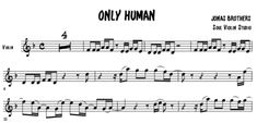 Only Human - Jonas Brothers / music sheet - soul violin studio Sheet Music Pdf, Violin Sheet Music, Jonas Brothers, Backing Tracks, Transcription, Amy, Bands, Link, Cover