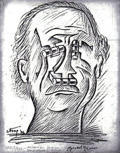 Remembering Sorel Etrog, Towering Figure in Canadian Modern Art (1933-2014) & McLuhan collaborator –  Feb 27, 2014 - The Canadian art world lost a major contributor this week with the passing of Sorel Etrog, a Toronto…(Depicted: Marshall McLuhan by Sorel Etrog)