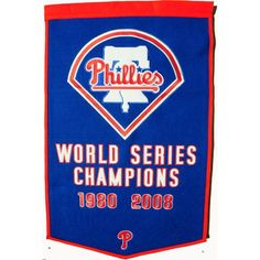 Philadelphia Phillies Vintage Wool Dynasty Banner With Cafe Rod