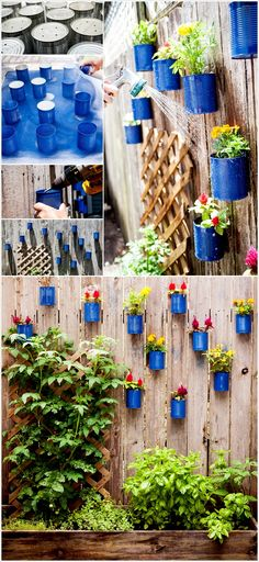 Thrifty Painted Tin Can Planters
