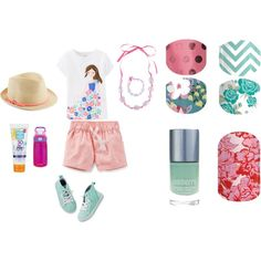 Little Lady Cool by katiefontejams on Polyvore featuring Carters, Kiss My Face and Stella & Dot  by katiefontejams  Katiefonte.jamberrynails.net katiefontejams@gmail.com facebook.com/KatieFonteJams