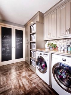 Chalkboard in the laundry room
