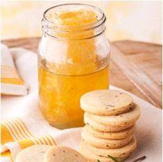 Honey Rosemary Shortbread Cookies