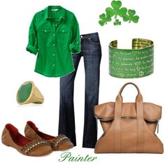 St Patty's Day ~casual style~, created by mels777 on Polyvore